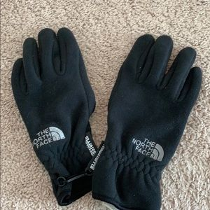 XS the north face gloves insulated and rubber back